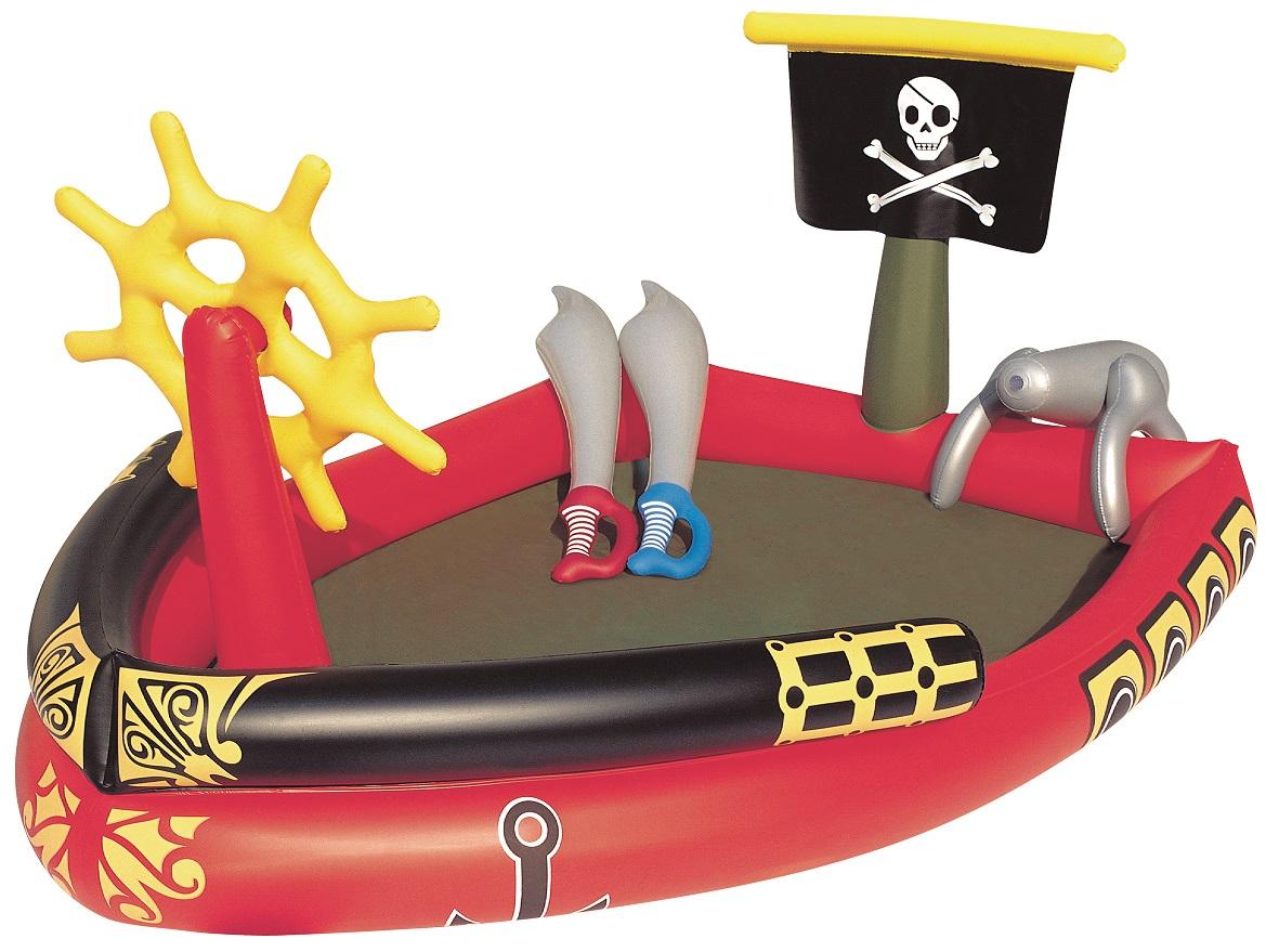 Купить Игровой бассейн с брызгалкой и принадлежностями для игр из серии Пираты, 190 х 140 х 96 см, 212 литров, Bestway