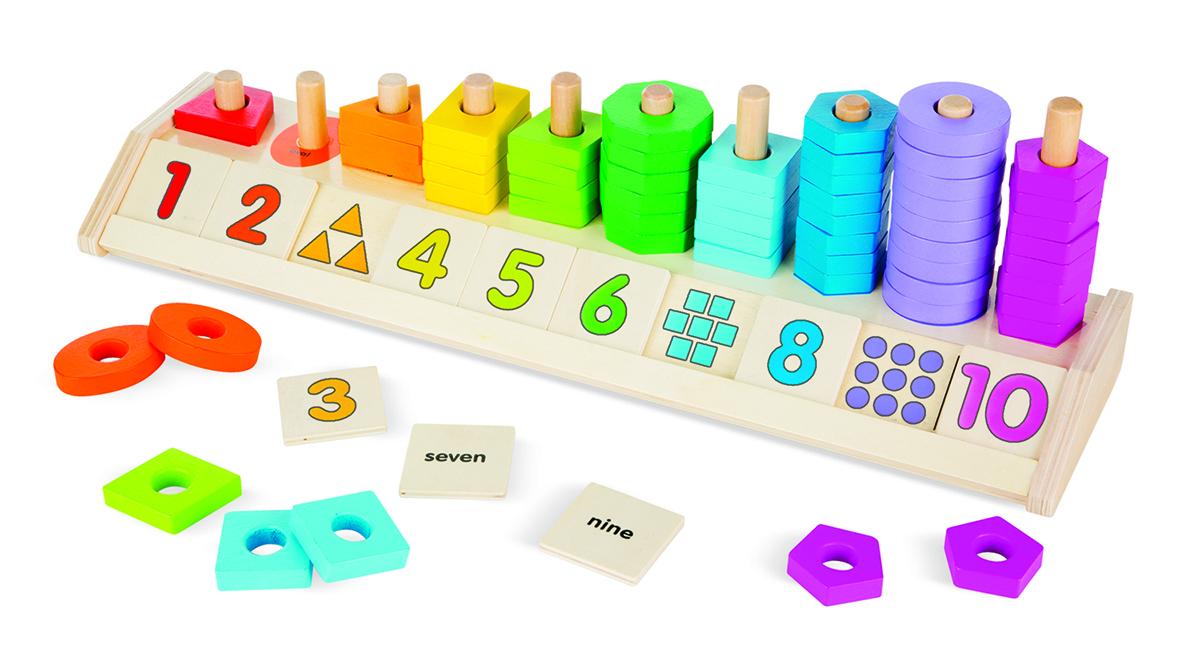 Счеты «Разложи по цветам» из серии Деревянные игрушкиСтучалки и сортеры<br>Счеты «Разложи по цветам» из серии Деревянные игрушки<br>