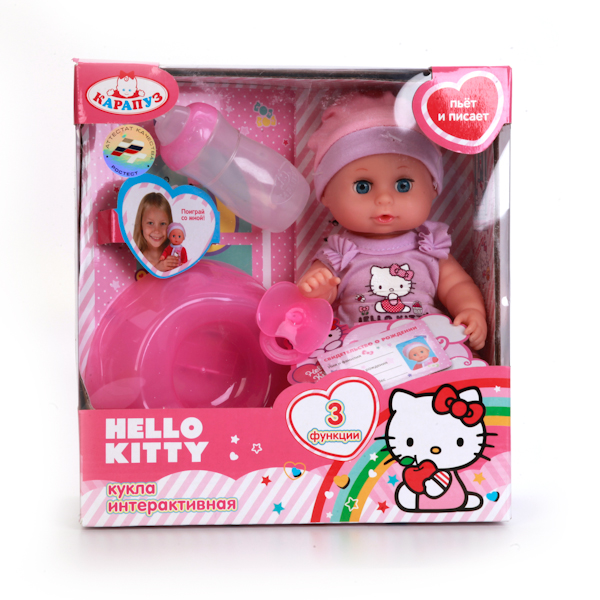 Пупс Hello Kitty, 20 см, 3 функции
