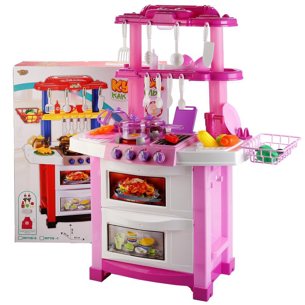 Игровой набор – Кухня, свет и звук, аксессуары фото