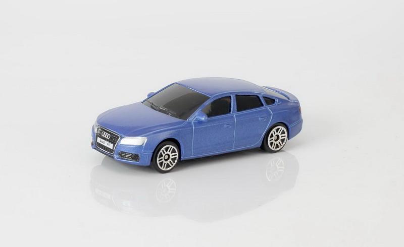 Купить Металлическая машина - Audi A5, 1:64, синий, RMZ City