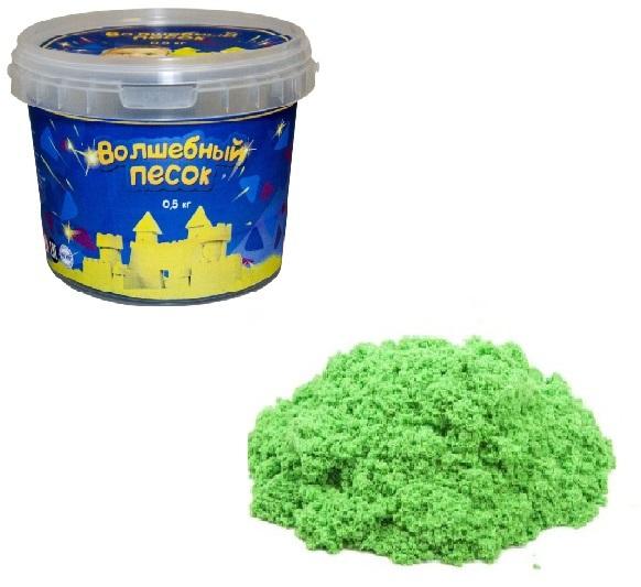 Волшебный песок, зеленый, 500 гКинетический песок<br>Волшебный песок, зеленый, 500 г<br>