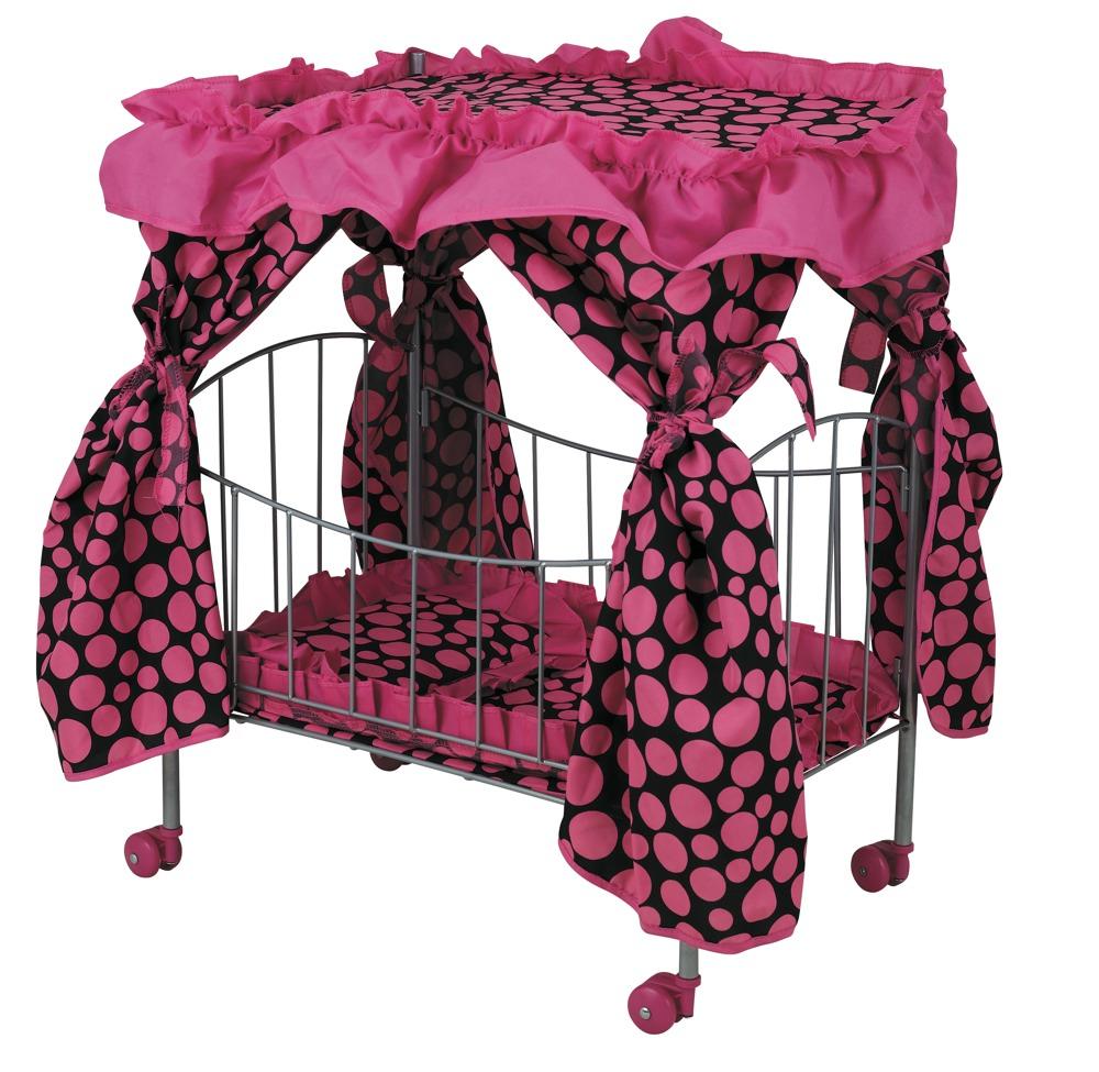 Большая кровать с навесом для куклы, 60 см. - Детские кроватки для кукол, артикул: 15113