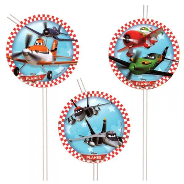 Коктейльные трубочки – Самолеты, 6 штукСамолеты Disney (Planes)<br>Коктейльные трубочки – Самолеты, 6 штук<br>