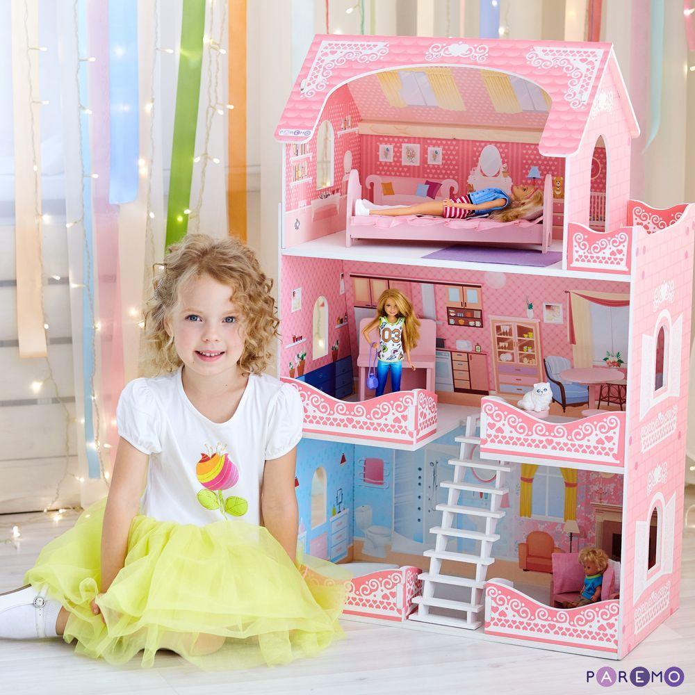 Купить Кукольный домик - Адель Шарман с мебелью, Paremo