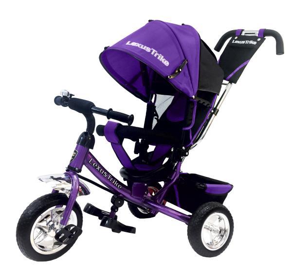 Купить Велосипед 3-х колесный с ручкой управления - Lexus Trike, фиолетовый, колеса EVA
