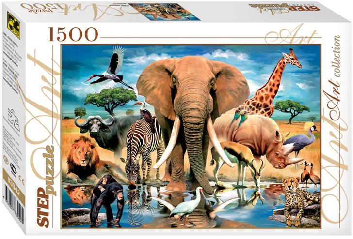Пазл В мире животных, 1500 элементовПазлы 1500 элементов<br>Пазл В мире животных, 1500 элементов<br>