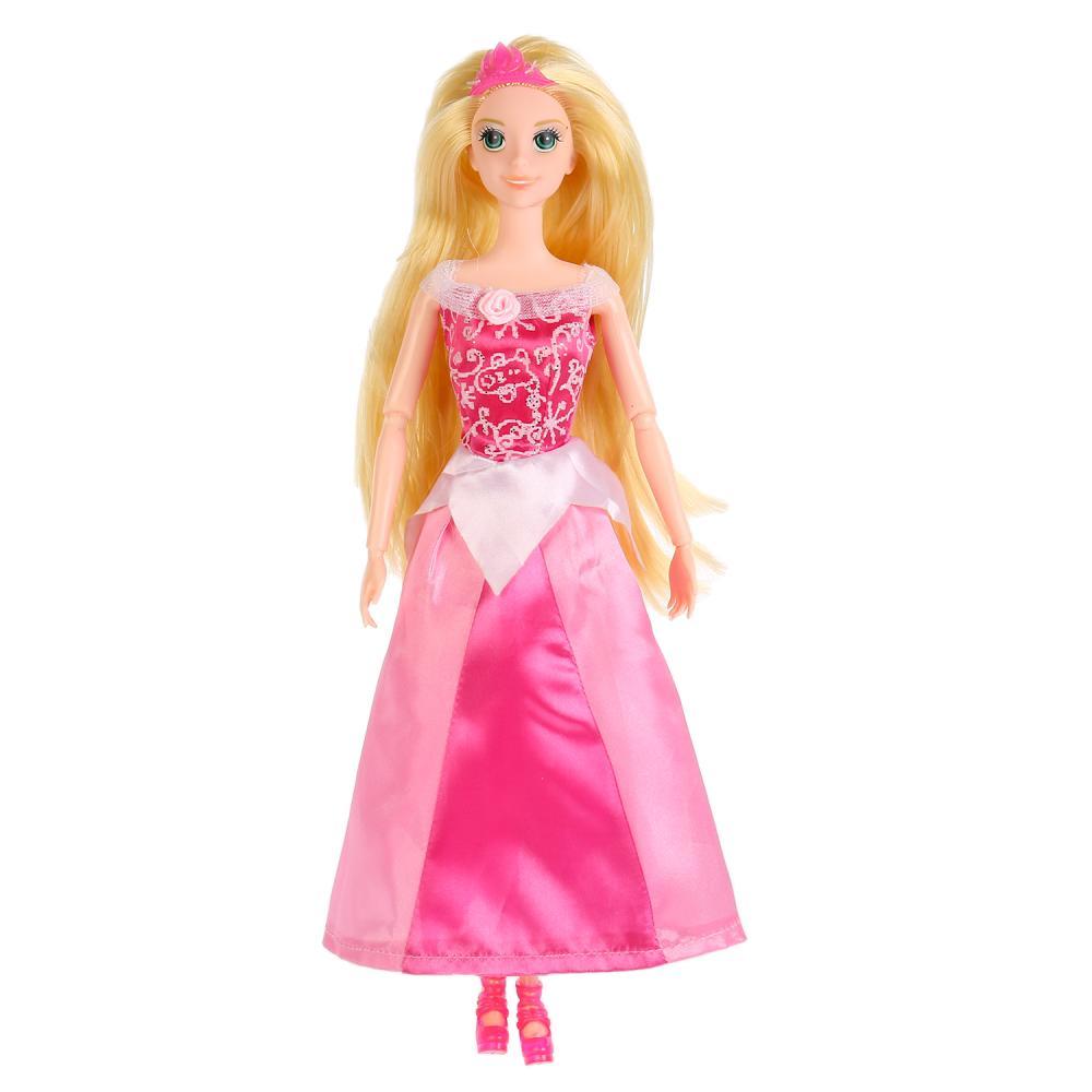 Купить Кукла София принцесса в розовом платье 29 см., с аксессуарами, Карапуз