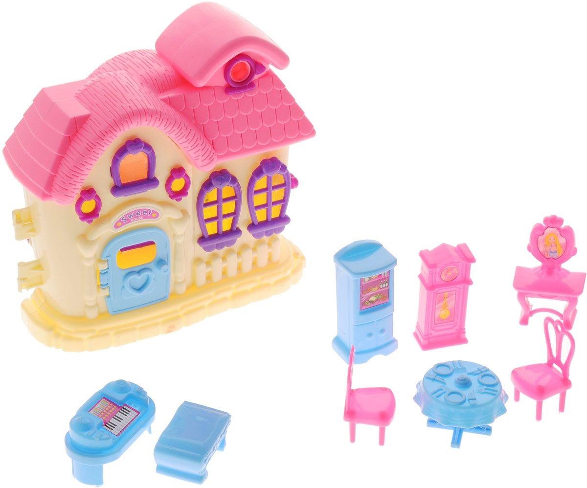 Дом для кукол, серия В гостях у куклы, с аксессуарамиКукольные домики<br>Дом для кукол, серия В гостях у куклы, с аксессуарами<br>