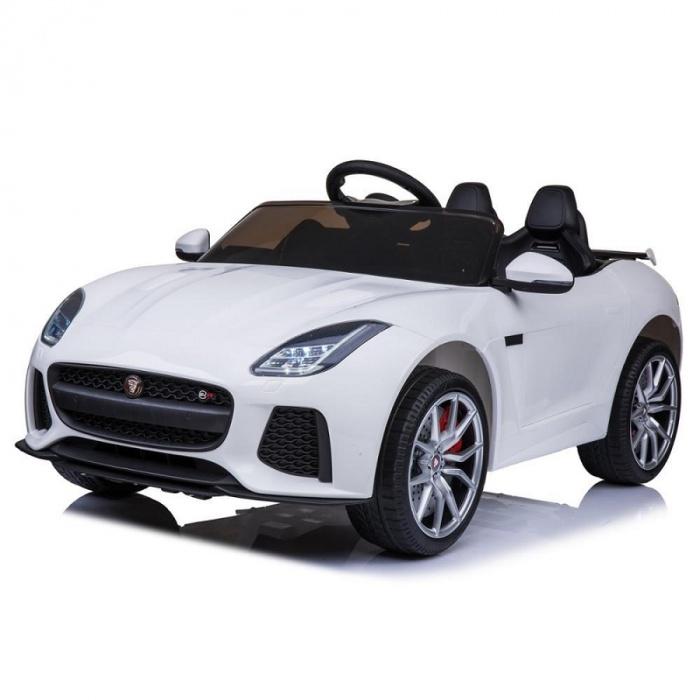 Электромобиль Jaguar F-tyre белого цвета