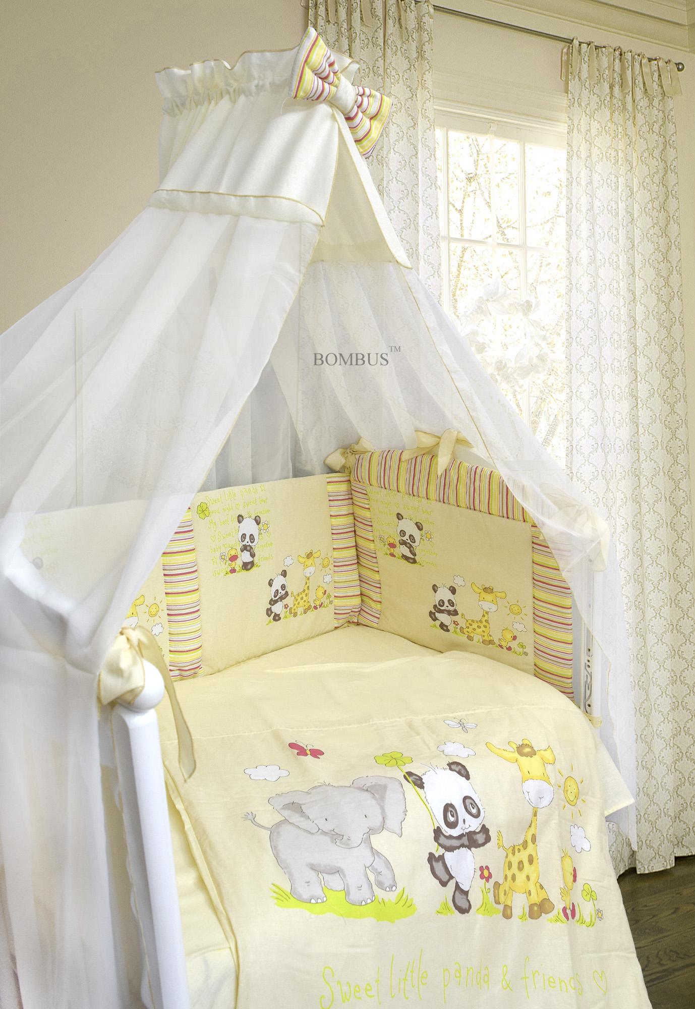 Комплект в кроватку - Панда с друзьямиДетское постельное белье<br>Комплект в кроватку - Панда с друзьями<br>