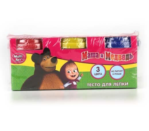 Набор Маша и Медведь - Тесто для лепки, 3 цвета Multiart