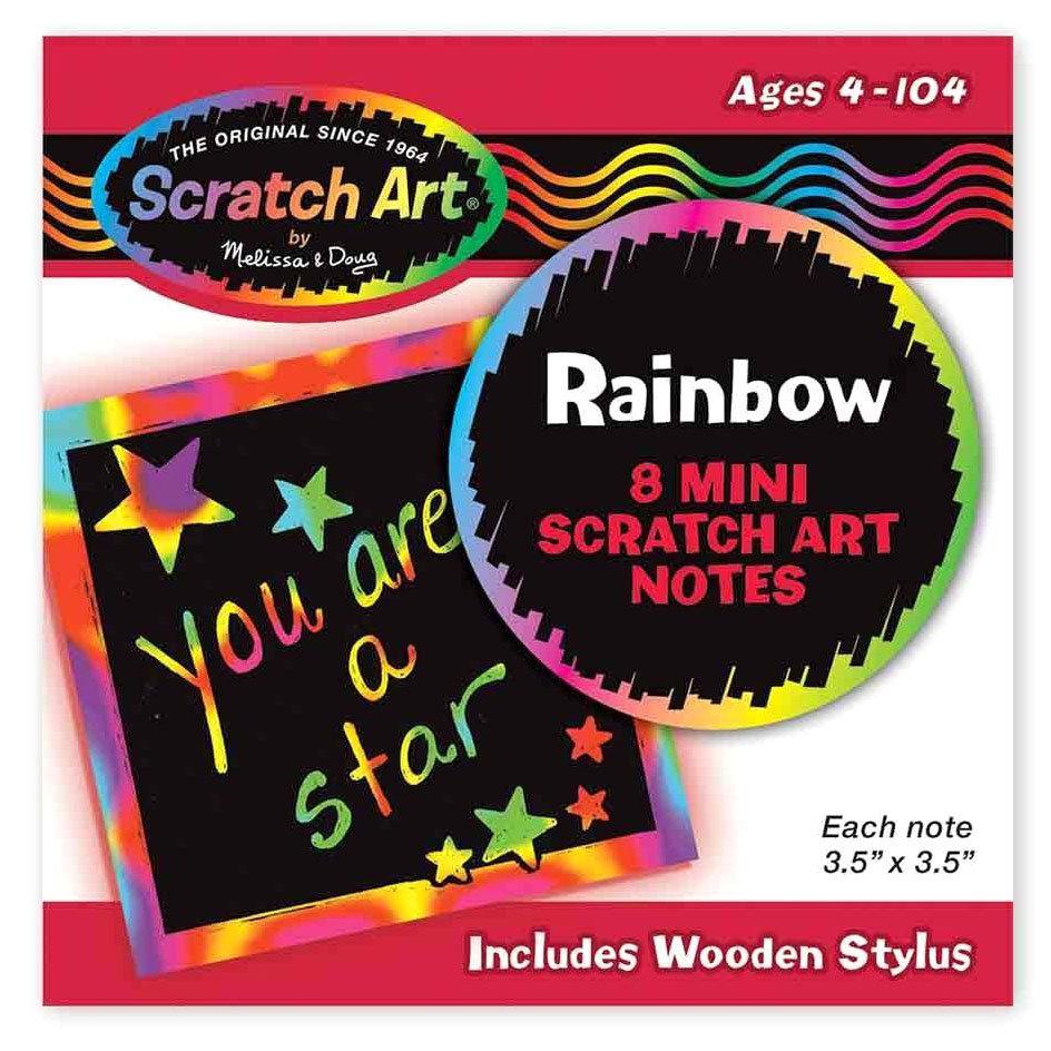 Радужные мини-стикеры «Scratch art» Melissa&Doug