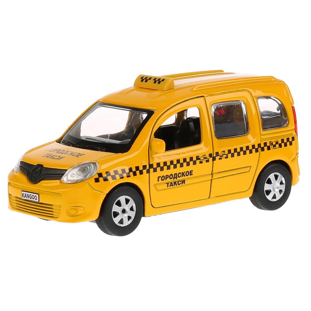 Купить Машина инерционная металлическая - Renault Kangoo, такси, 12 см, открываются двери, Технопарк