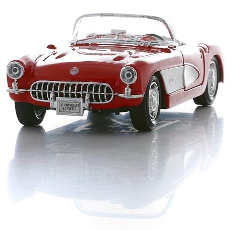 Модель машины Chevrolet Corvette 1957, 1:24Chevrolet<br>Модель машины Chevrolet Corvette 1957, 1:24<br>