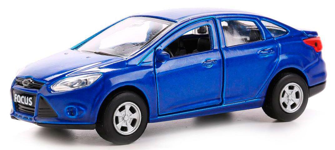 Купить со скидкой Машина металлическая инерционная – Форд Фокус, 12 см., открываются двери, несколько цветов