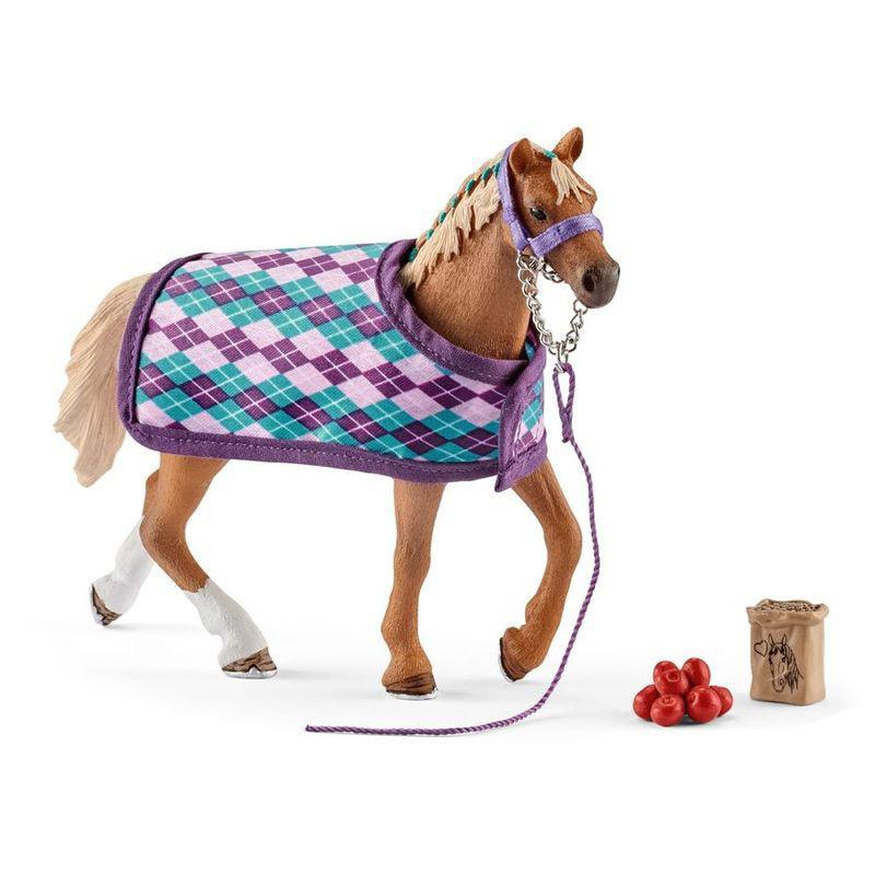 Купить Игровой набор – Английская чистокровная лошадь с аксессуарами, Schleich