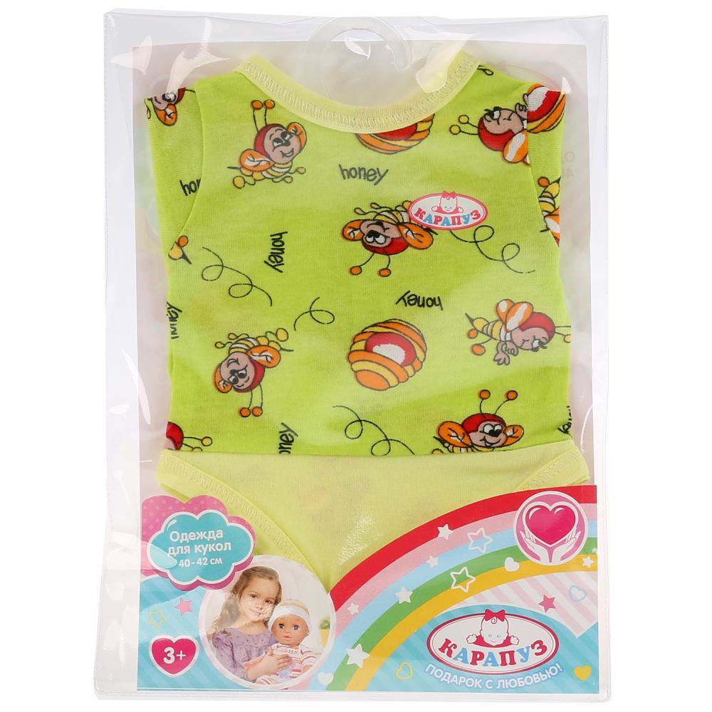 Купить Одежда для кукол ТМ Карапуз 40-42 см - Боди - Пчелки в пакете