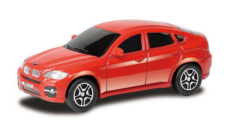 Купить Металлическая машина - BMW X6, 1:64, красный, RMZ City