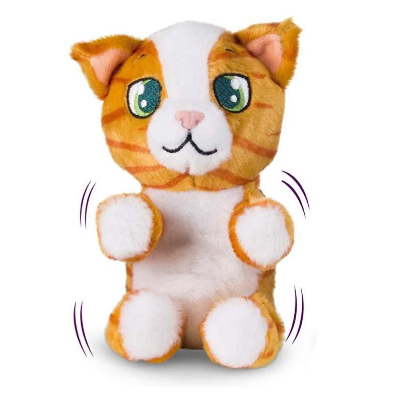Купить Интерактивная игрушка – Котенок, рыжий полосатый, звук, IMC toys