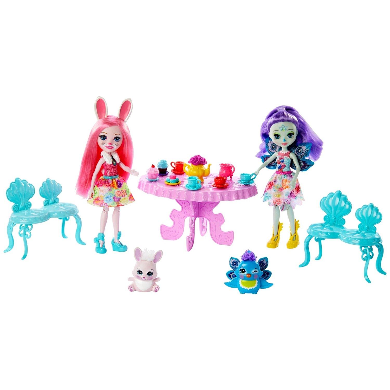 Игровой набор Enchantimals - Чаепитие Пэттер Павлины и Бри Кроли Mattel