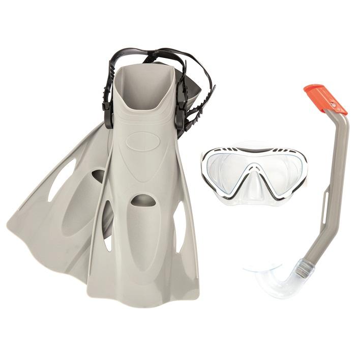 Купить Набор для ныряния - Огненная рыба, маска, трубка, ласты, р-р 37-41, 2 цвета, Bestway