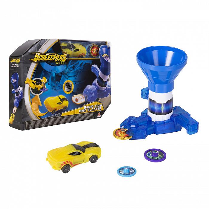 Купить Игровой набор Дикие Скричеры - Бластер для дисков синий и машинка, Alpha Group