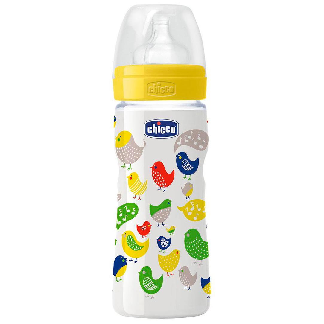 Пластиковая бутылочка с силиконовой соской, 330 млТовары для кормления<br>Пластиковая бутылочка с силиконовой соской, 330 мл<br>