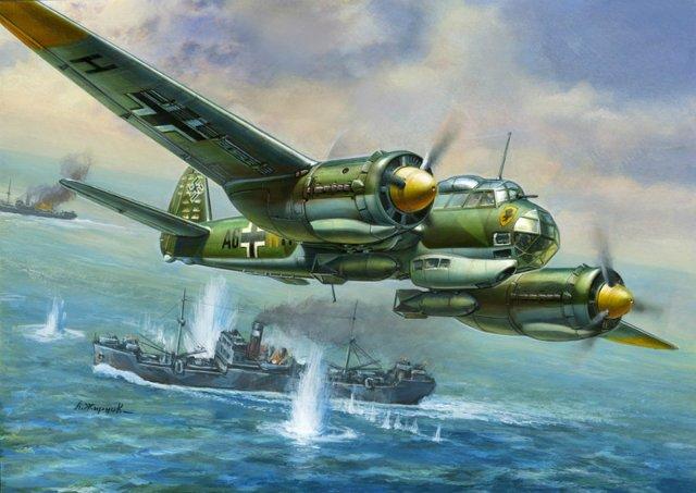 Модель для склеивания - Немецкий бомбардировщик Юнкерс Ju-88A4Модели самолетов для склеивания<br>Модель для склеивания - Немецкий бомбардировщик Юнкерс Ju-88A4<br>