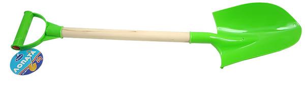 Лопатка пластмассовая с деревянной ручкой, 68 см.Все для песочницы<br>Лопатка пластмассовая с деревянной ручкой, 68 см.<br>