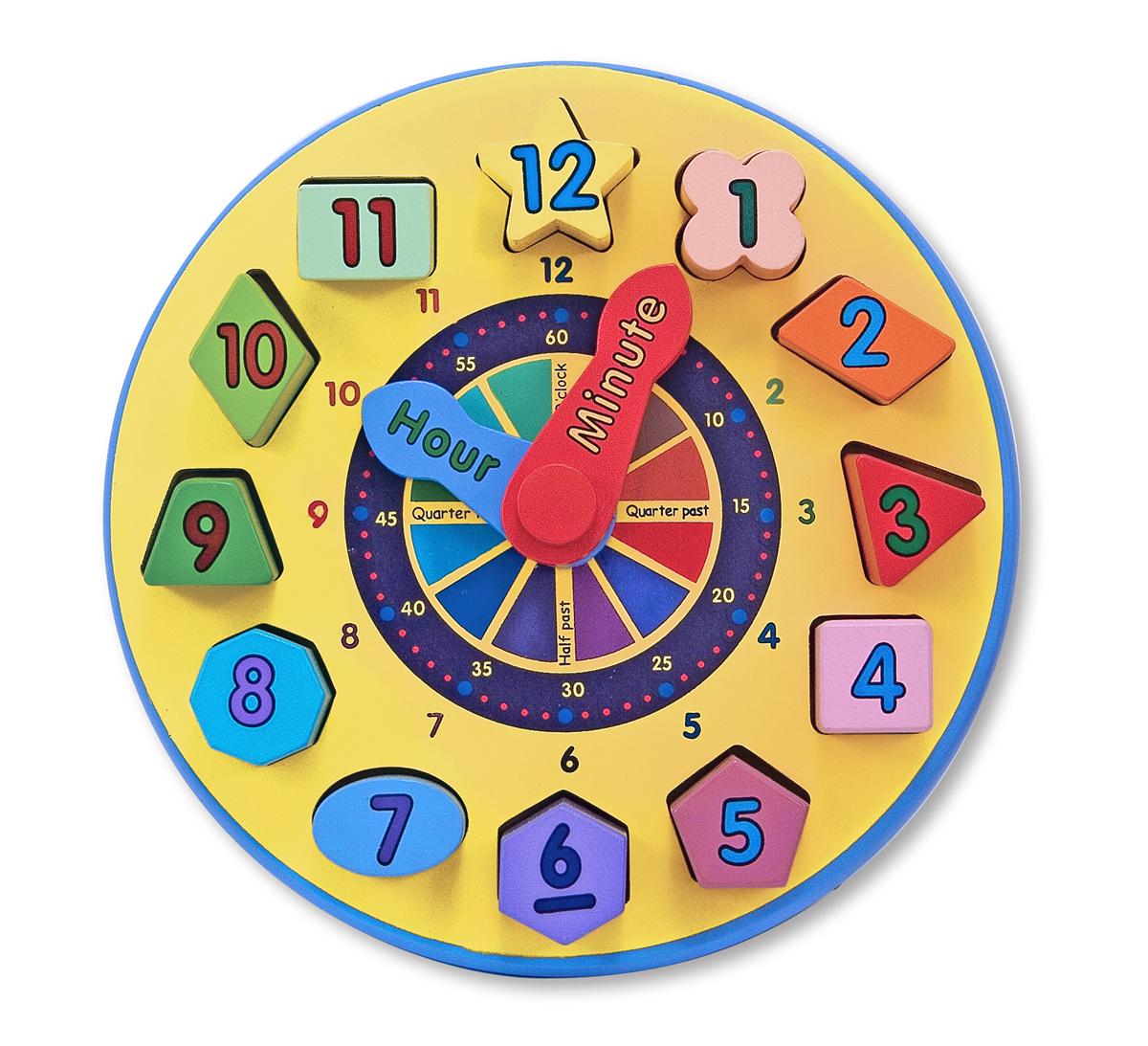 Сортировщик Часы из серии Классические игрушкиСортеры, пирамидки<br>Сортировщик Часы из серии Классические игрушки<br>