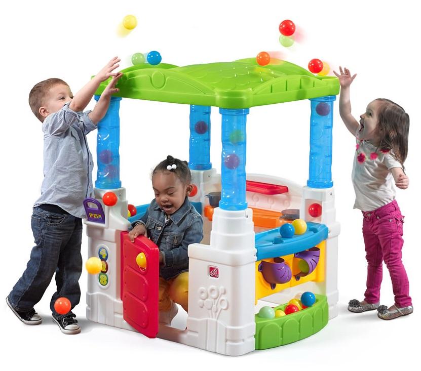 Игровой домик Step 2 Веселые шарыПластиковые домики для дачи<br>Игровой домик Step 2 Веселые шары<br>