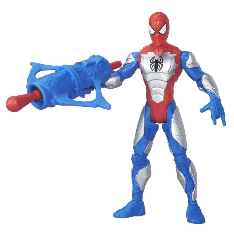 Фигурка из серии Spider-Man vs Sinister 6 - Бронированный Человек-паук c орудием, 15 см.Spider-Man (Игрушки Человек Паук)<br>Фигурка из серии Spider-Man vs Sinister 6 - Бронированный Человек-паук c орудием, 15 см.<br>