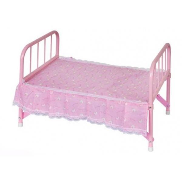 Кроватка металлическая для кукол с матрасомДетские кроватки для кукол<br>Кроватка металлическая для кукол с матрасом<br>