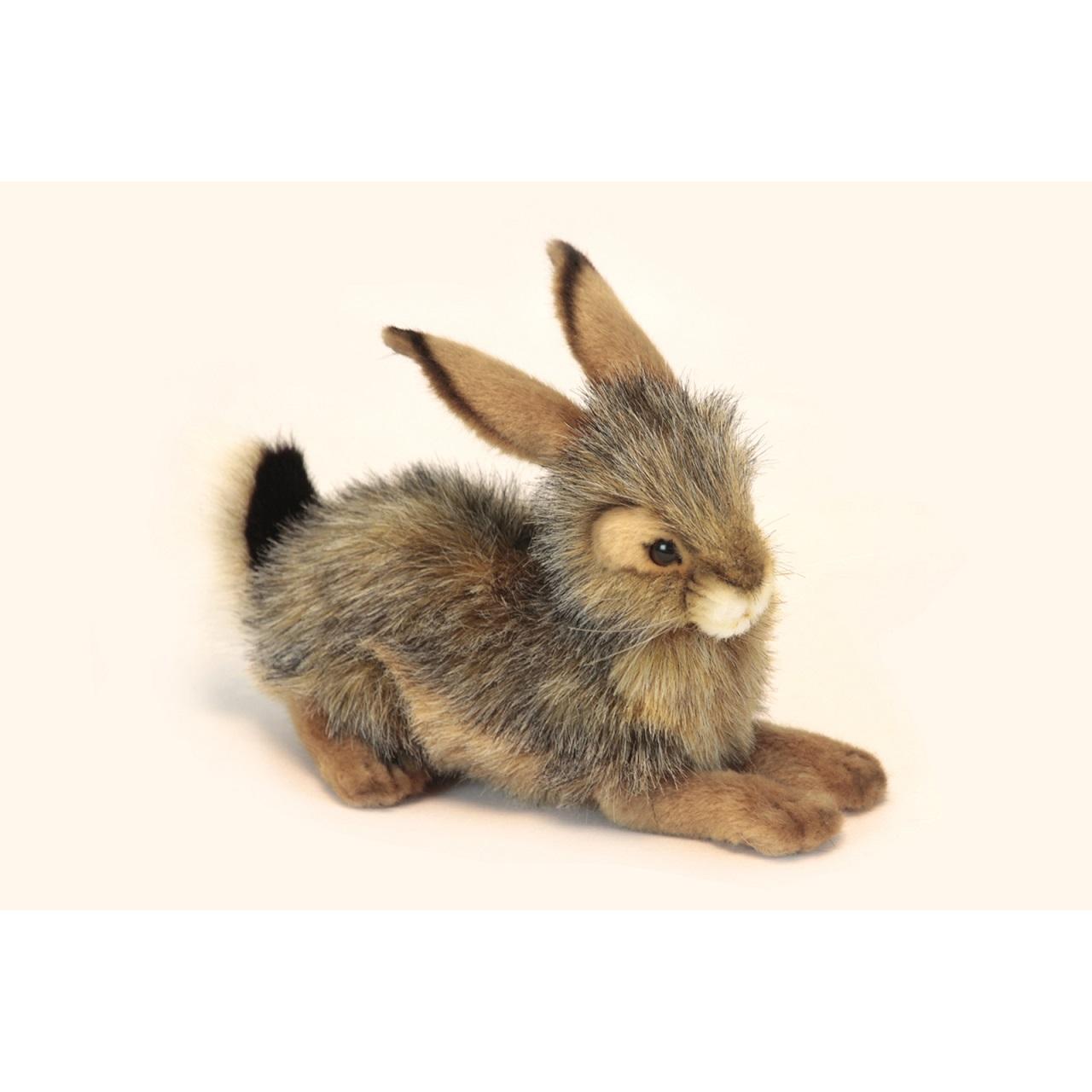 Мягкая игрушка – Кролик черный, 25 см.Зайцы и кролики<br>Мягкая игрушка – Кролик черный, 25 см.<br>
