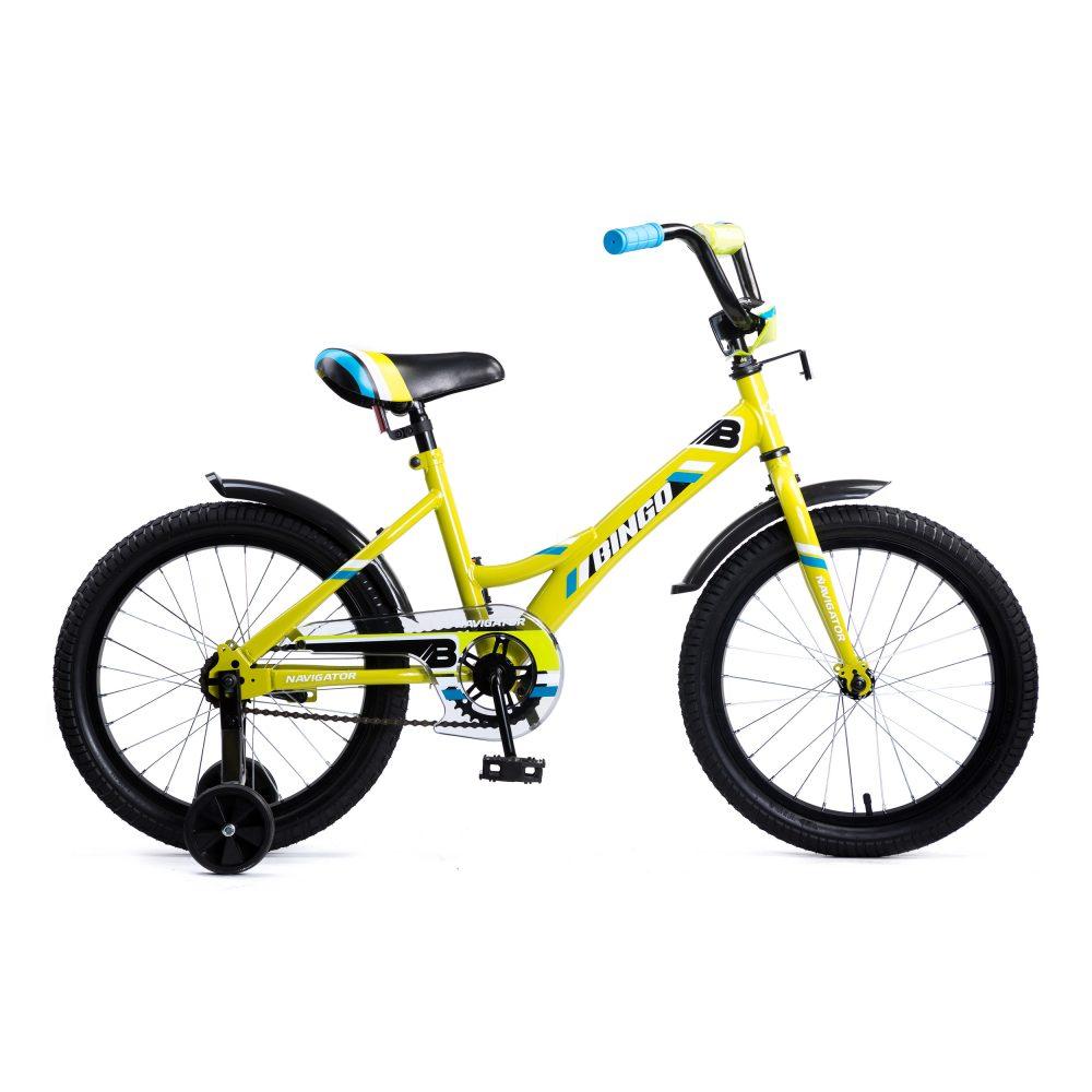 Купить Детский велосипед Navigator Bingo желтый, колеса 18 , стальная рама, стальные обода, ножной тормоз