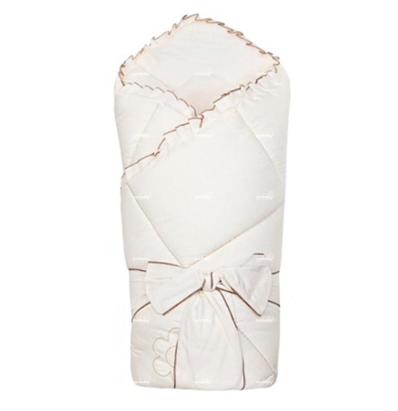 Конверт  одеяло на выписку – Ромашки, весна, шампань - Конверты, комплекты на выписку, артикул: 171317