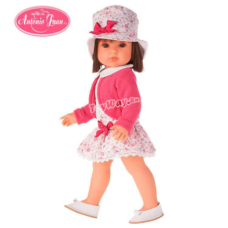 Кукла Rosa в шляпке, 45 см.Куклы Антонио Хуан (Antonio Juan Munecas)<br>Кукла Rosa в шляпке, 45 см.<br>