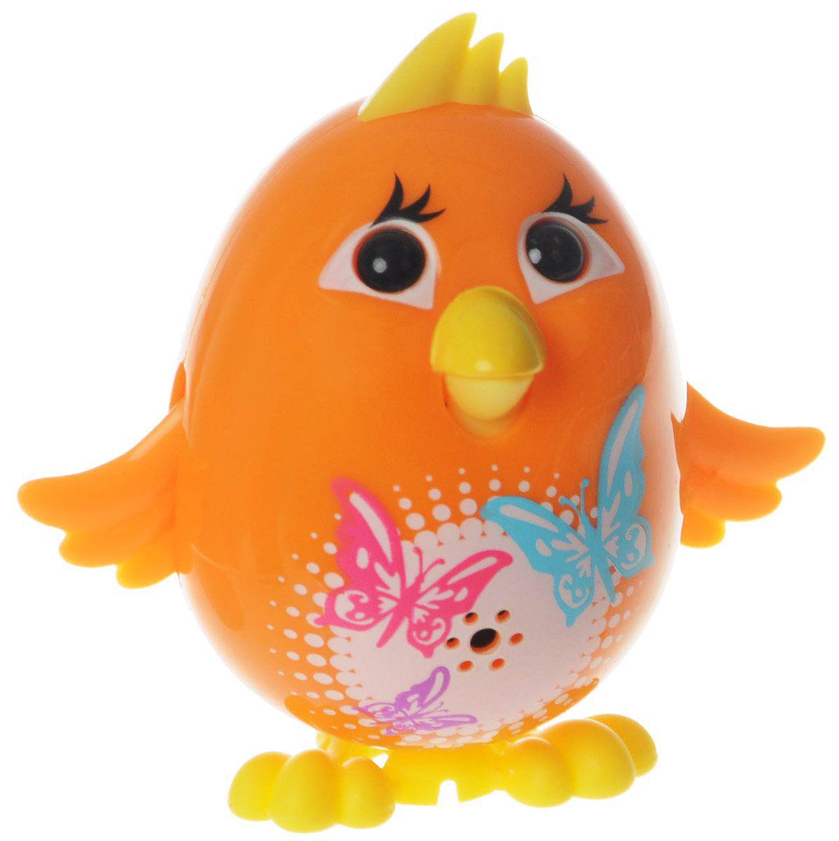 Silverlit Интерактивная игрушка - Цыпленок с кольцом, оранжевый