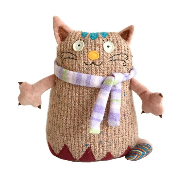 Мягкая игрушка – Кот Котейка, розовыйКоты<br>Мягкая игрушка – Кот Котейка, розовый<br>