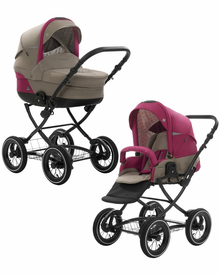 Коляска детская Noordi Polaris 2/1 CL, бежево-розоваяДетские коляски 2 в 1<br>Коляска детская Noordi Polaris 2/1 CL, бежево-розовая<br>