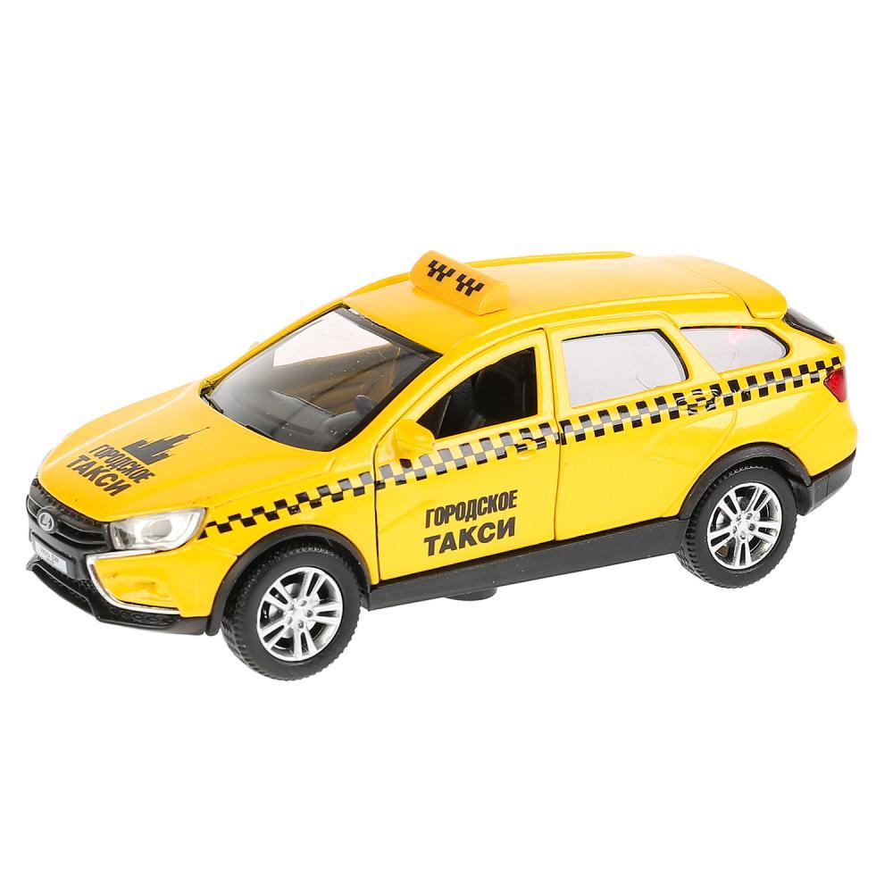 Купить Машина металлическая Lada Vesta Sw Cross Такси, длина 12 см, инерционная, Технопарк