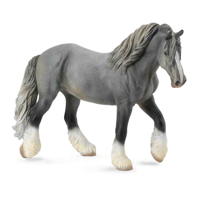 Игровая фигурка - Лошадь тяжеловоз Шайр - кобыла сераяЛошади (Horse)<br>Игровая фигурка - Лошадь тяжеловоз Шайр - кобыла серая<br>