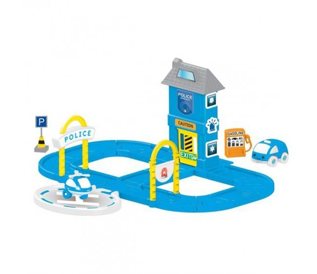Купить Игровой набор - Полицейская станция с круговой дорогой, Dolu