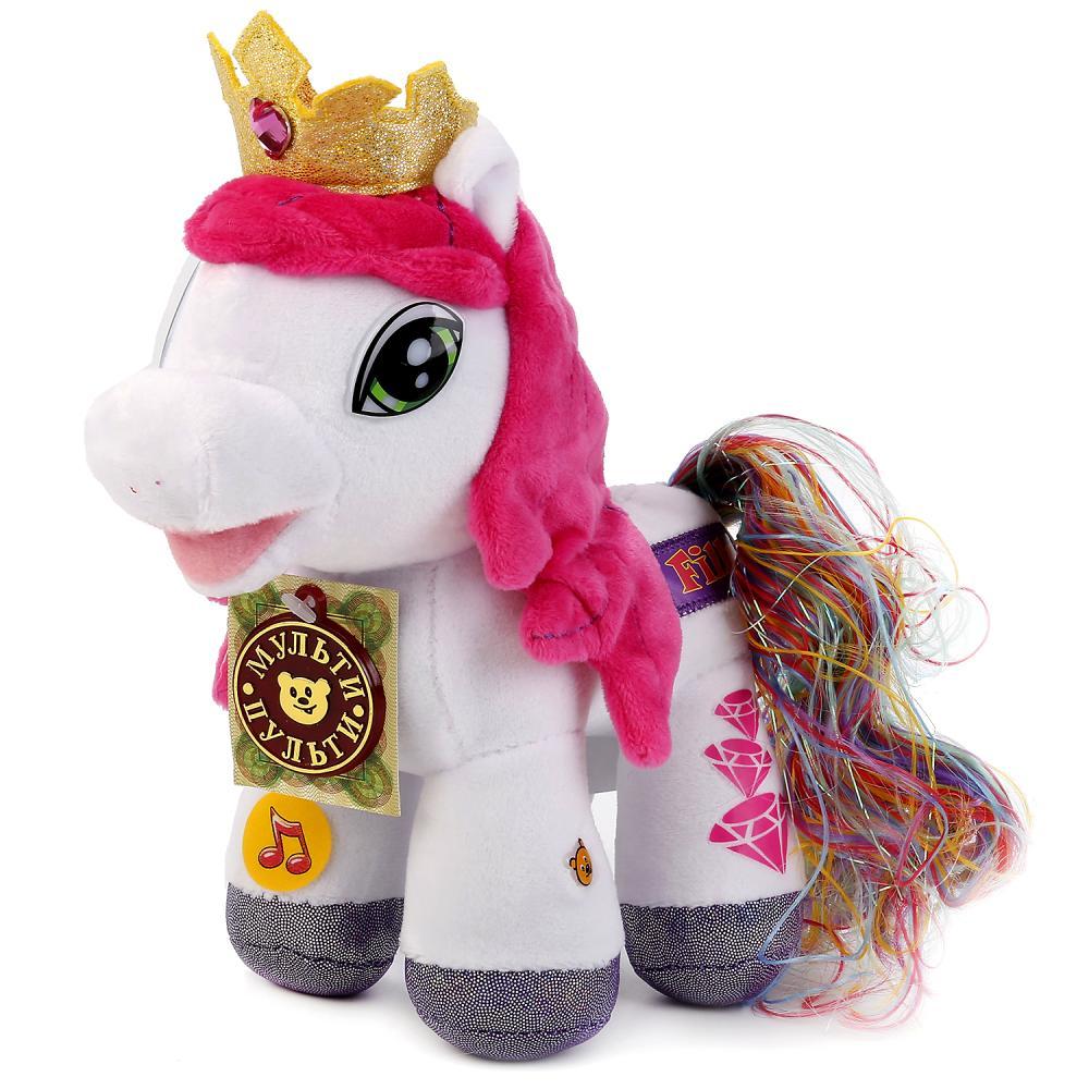 Озвученная мягкая игрушка – Пони Радуга, 23 см, Мульти-Пульти  - купить со скидкой