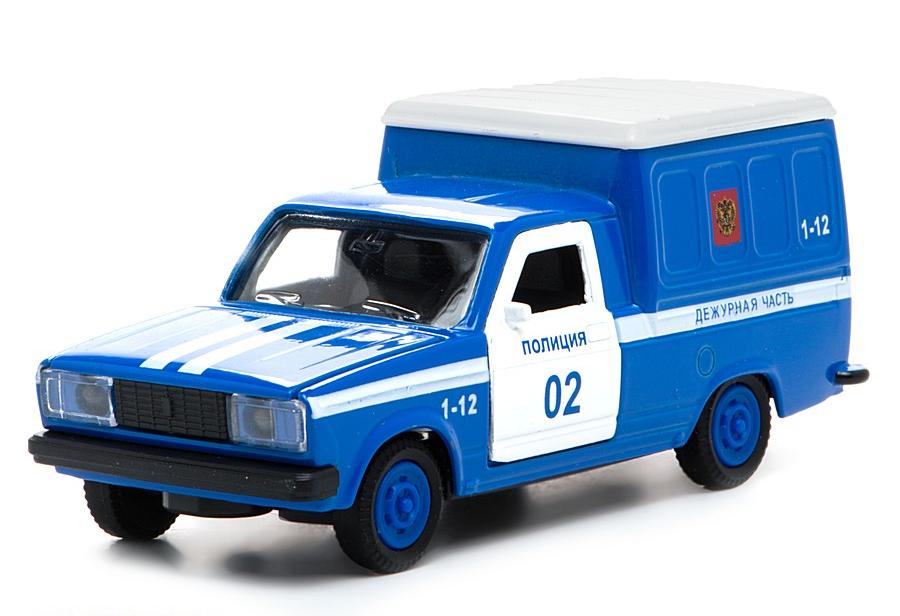 Металлическая инерционная машина - Фургон полиция, 1:43, свет, звукПолицейские машины<br>Металлическая инерционная машина - Фургон полиция, 1:43, свет, звук<br>