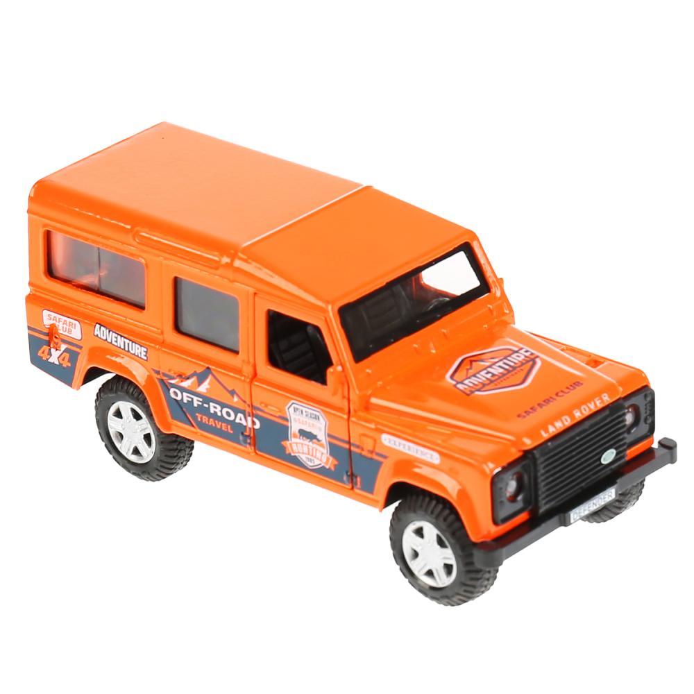 Купить Машина металлическая Land Rover Defender Спорт 12 см, свет-звук, инерция, оранжевая, Технопарк