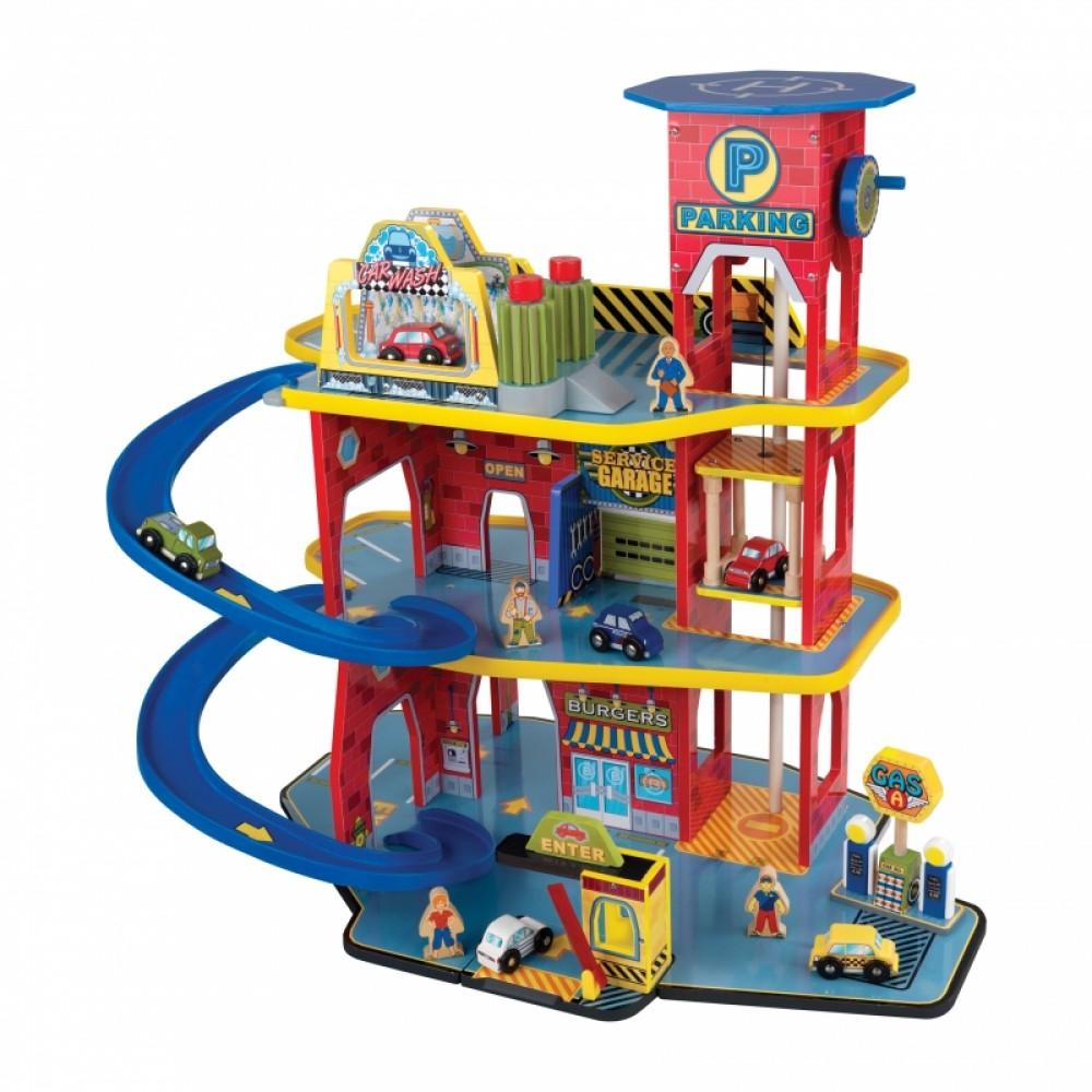 Игровой набор Паркинг Делюкс, 15 элементов - Детские парковки и гаражи, артикул: 160590