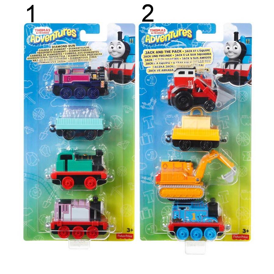 Игровой набор Thomas&Friends  Набор из трех новых персонажей-паровозиков с вагончиком - Паровозики Томас, артикул: 166988