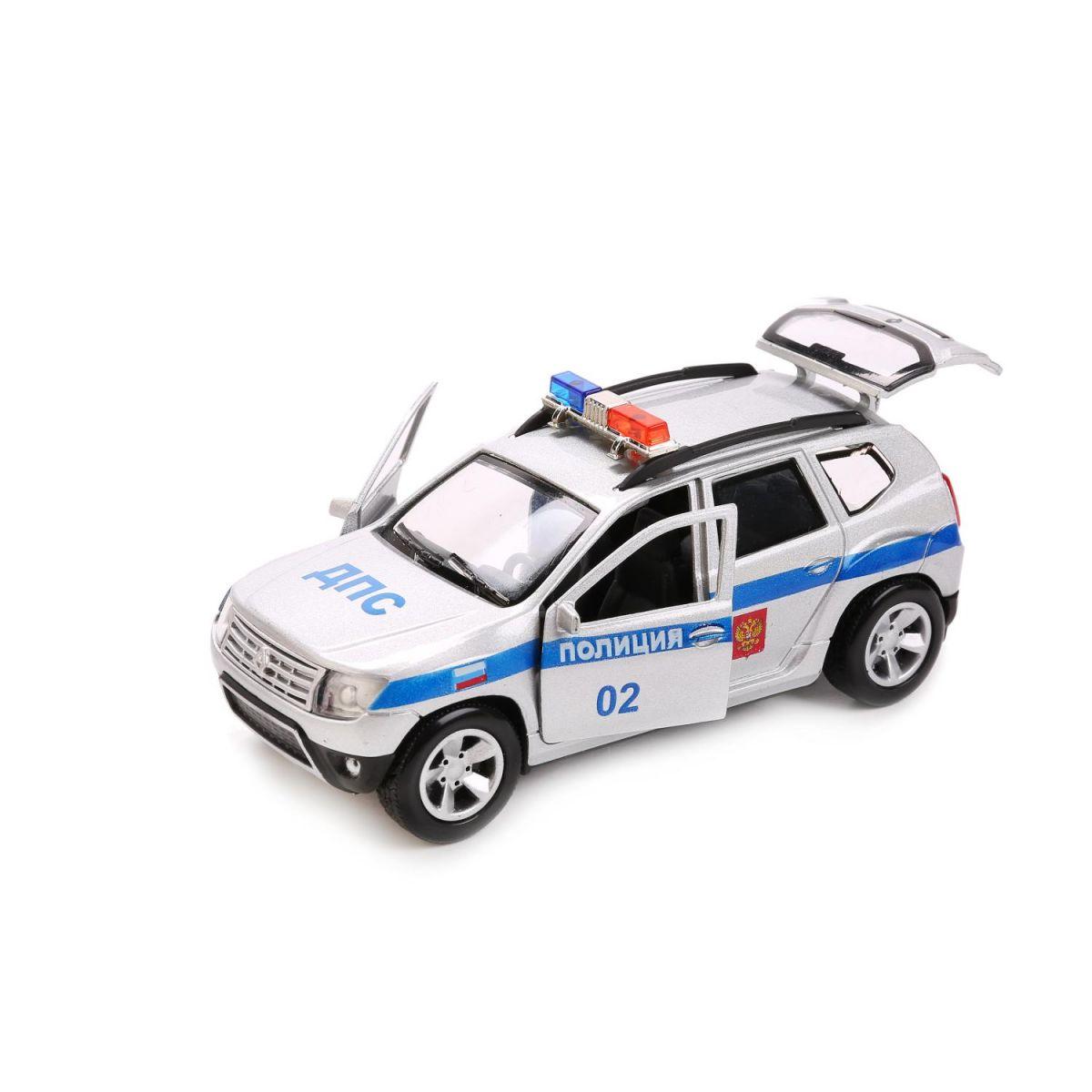Купить Полиция Renault Duster 12 см - металлическая инерционная машина, Технопарк